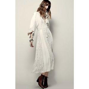 Free People Kimono Style Boho Dress